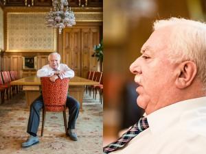 VIENNA, AUSTRIA - AUGUST 28, 2015: Exclusive portraits of VIenna´s mayor Michael Häupl (SPÖ) close to Vienna´s upcoming elections.