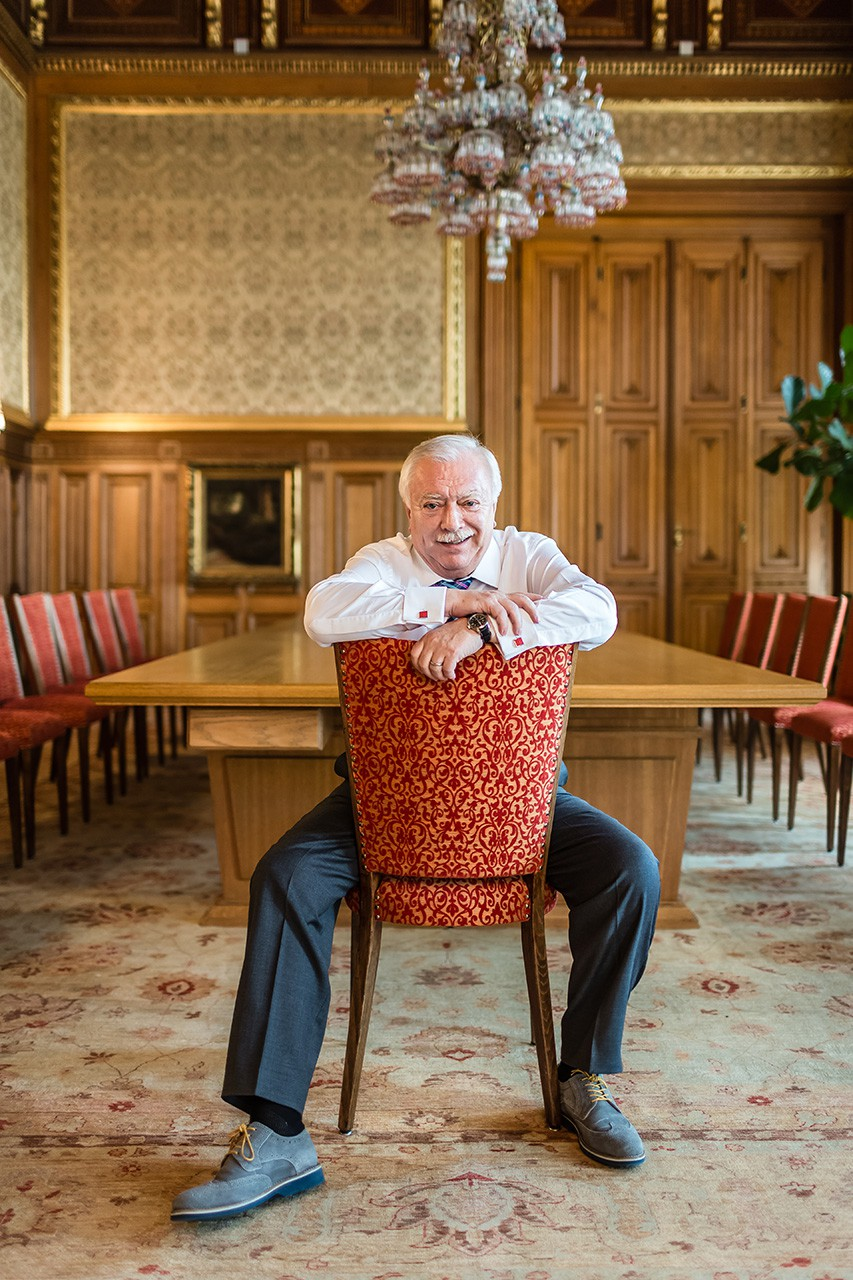 VIENNA, AUSTRIA - AUGUST 28, 2015: Exclusive portraits of VIenna´s mayor Michael Häupl (SPÖ) close to Vienna´s upcoming elections.